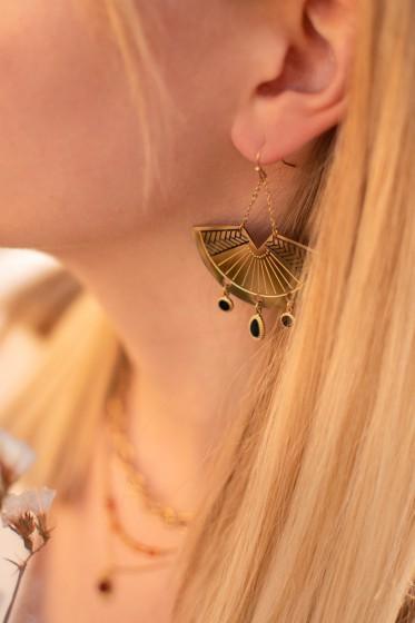 Steel Balance Earrings (gold)