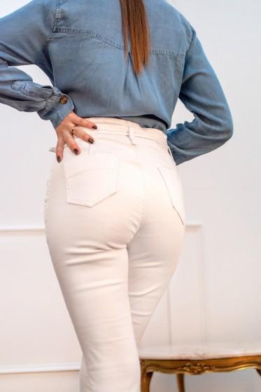Pantalon Fita Carotte (blanc)