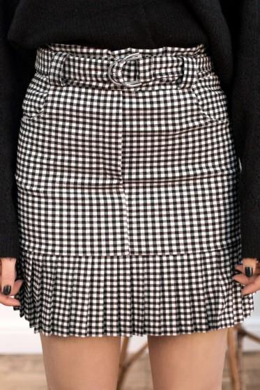 Za Checked Skirt (black)