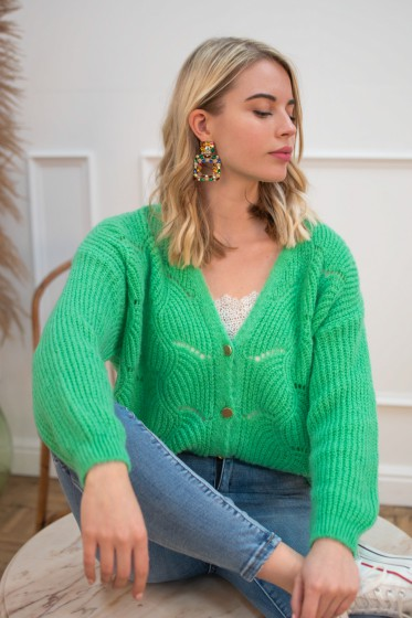 Ginette Cardigan (Green)