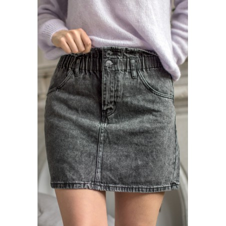 Jupe Jeans Angelica (Gris)