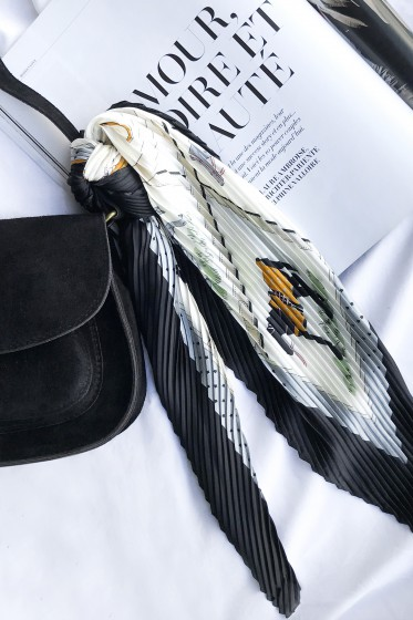Foulard Petit Plisse (noir)
