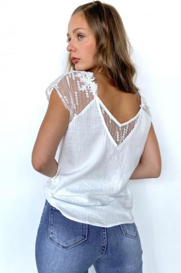 Margarette Lace Top (White)