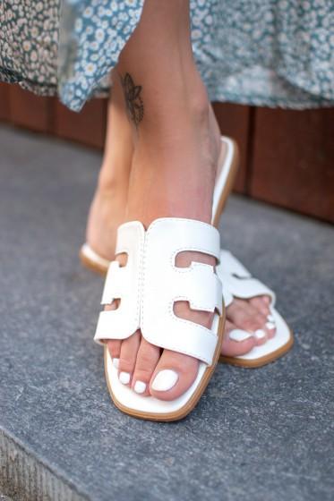 Leonord Slides (White)