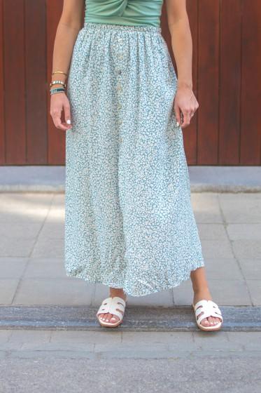 Gonza Flower Skirt (Blue)