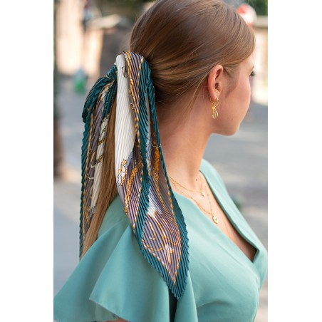Small Pleated Scarf (Green)